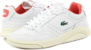 Buty sportowe Lacoste sznurowane w sportowym stylu z płaską podeszwą