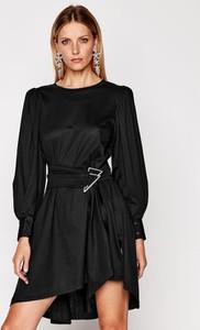 Czarna sukienka Iro z długim rękawem mini