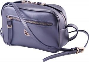 Fioletowa torebka Versace 19.69 na ramię ze skóry ekologicznej w stylu casual