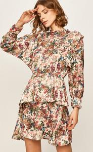 Sukienka Answear mini z tkaniny z długim rękawem