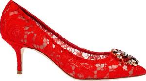 Czerwone czółenka Dolce & Gabbana