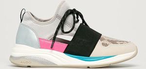 Buty sportowe Aldo z płaską podeszwą sznurowane ze skóry ekologicznej