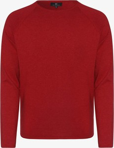 Czerwony sweter Nils Sundström w stylu casual z dzianiny z okrągłym dekoltem