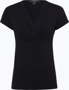 T-shirt Esprit z szyfonu z krótkim rękawem w stylu casual