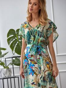 Zielona sukienka Smashed Lemon mini z tkaniny