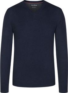 Niebieski sweter Tom Rusborg z kaszmiru w stylu casual
