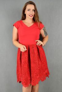 Czerwona sukienka Marka Polska midi