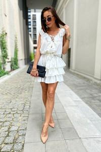 Sukienka LIMONKA w stylu boho mini