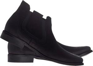 Czarne botki Lafemmeshoes w stylu casual ze skóry