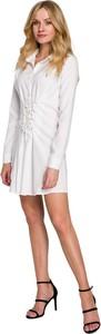 Sukienka Makover w stylu casual z długim rękawem