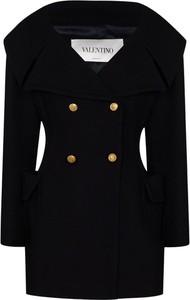 Czarna kurtka Valentino z wełny