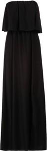 Czarna sukienka Multu z dekoltem w kształcie litery v
