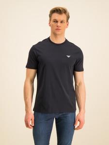 Granatowy t-shirt Emporio Armani z krótkim rękawem