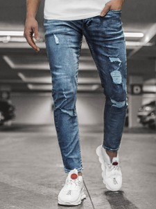 Jeansy Ozonee z jeansu