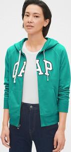 Zielona bluza Gap krótka z bawełny