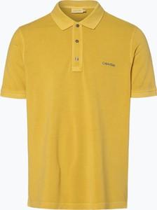 Żółta koszulka polo Calvin Klein z bawełny