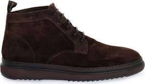 Brązowe buty zimowe Igi & Co ze skóry