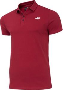 Czerwona koszulka polo 4F