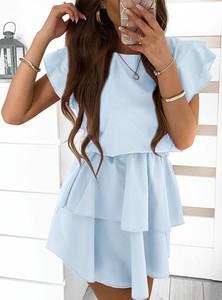 Sukienka Pakuten w stylu casual z krótkim rękawem mini