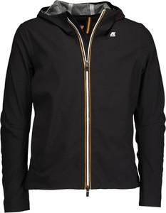 Czarna kurtka K-Way krótka z dżerseju w stylu casual