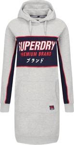 Sukienka Superdry sportowa mini z dekoltem w kształcie litery v