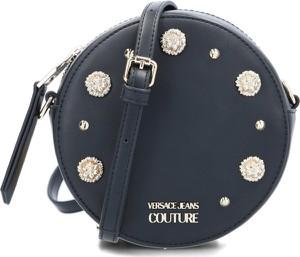 Czarna torebka Versace Jeans na ramię zdobiona z aplikacjami