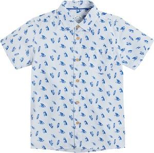 Niebieska koszula dziecięca Cool Club dla chłopców z bawełny