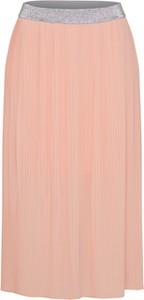 Różowa spódnica s.oliver denim midi