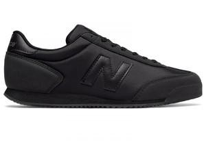 Czarne buty New Balance sznurowane w sportowym stylu