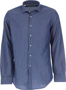 Niebieska koszula Del Siena z długim rękawem
