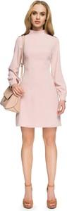 Sukienka MOE mini z długim rękawem trapezowa