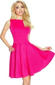 Różowa sukienka Nubile bez rękawów
