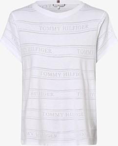 T-shirt Tommy Hilfiger z okrągłym dekoltem w młodzieżowym stylu z krótkim rękawem