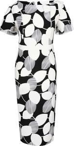 Sukienka Fokus midi w stylu retro z krótkim rękawem