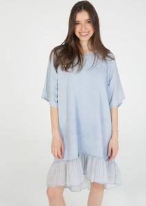 Niebieska sukienka Unisono mini w stylu casual