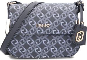 Granatowa torebka Liu-Jo w młodzieżowym stylu na ramię średnia