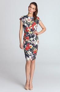 Sukienka Merg midi z okrągłym dekoltem