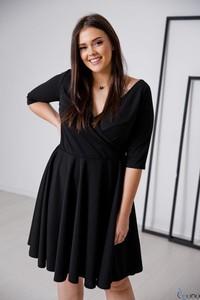 Sukienka tono.sklep.pl z długim rękawem w stylu casual z dekoltem w kształcie litery v