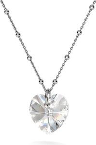 GIORRE ZŁOCONY NASZYJNIK Z KRYSZTAŁEM SWAROVSKIEGO SERCE : Kolor kryształu SWAROVSKI - Crystal, Kolor pokrycia srebra - Pokrycie Czarnym Rodem