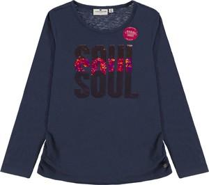 Granatowa bluzka dziecięca Tom Tailor dla dziewczynek z bawełny