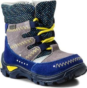 Niebieskie buty dziecięce zimowe bartek bez wzorów