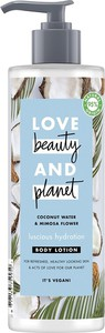 Love Beauty And Planet, Luscious Hydration Body Lotion, lekki balsam nawilżający do ciała, Coconut Water & Mimosa Flower, 400 ml