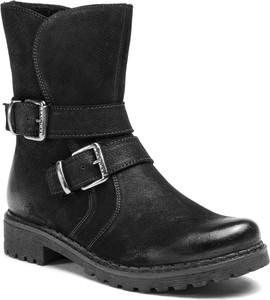 Czarne botki Lasocki z klamrami w stylu casual