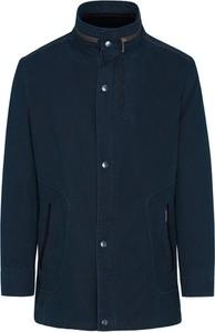 Granatowa kurtka Lavard w stylu casual długa