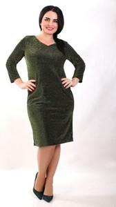 Sukienka Exclusive Line z długim rękawem z dzianiny prosta
