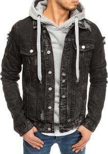 Czarna kurtka Dstreet w stylu casual krótka z bawełny