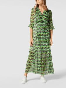 Sukienka Marc Cain z długim rękawem z jedwabiu