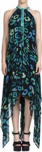 Sukienka Just Cavalli z okrągłym dekoltem bez rękawów midi