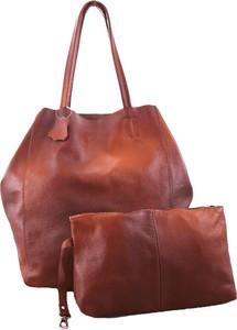 Czerwona torebka TrendyTorebki ze skóry na ramię duża