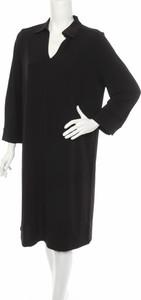 Czarna sukienka someday. prosta midi w stylu casual